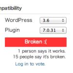 wordpress 3.6 でComprehensive Google Map がエラー