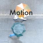 Motion5 モーション トラッキング マスクで文字を横切る映像
