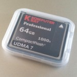 届いた KomputerBay 64GB 1000X UDMA7 CFカードを使う