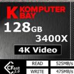 Komputerbay Professional 3400x CFast 2.0カードとTranscend カードリーダー